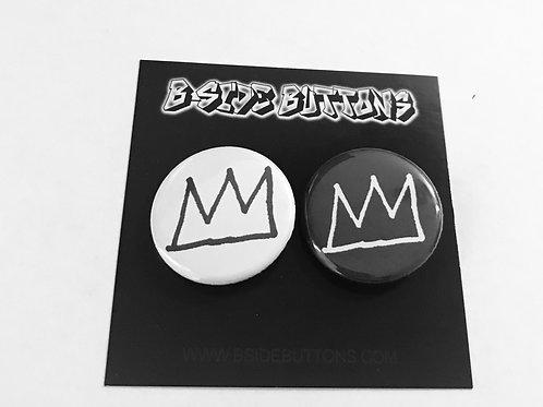"Basquiat Crown Button Pack - Size: 1.25"""