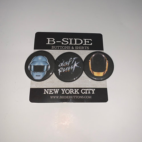 Daft Punk button Pack - Size: 1.25""