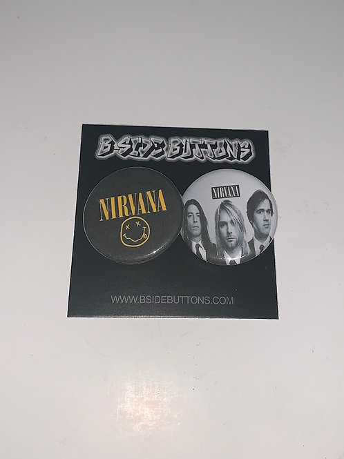 Nirvana Button Pack - Size: 1.25""