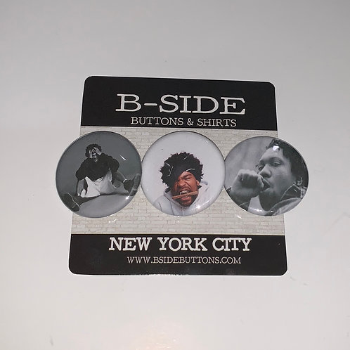 """Method Man Button Pack - Size: 1.25"""""""