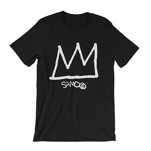 "Basquiat ""SAMO"" tag and crown T-shirt"