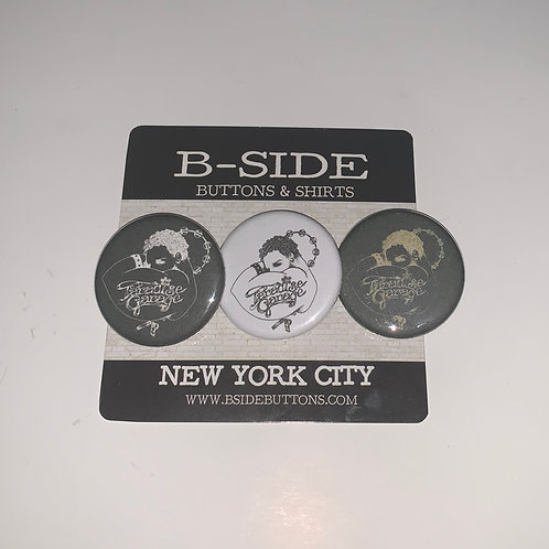 Paradise Garage logo Button Pack - Size: 1.25""