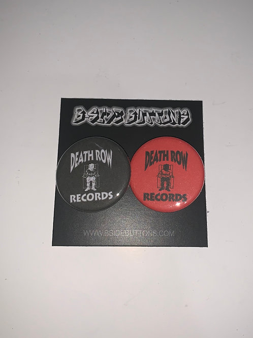 Deathrow Records Records Button Pack - Size: 1.25""