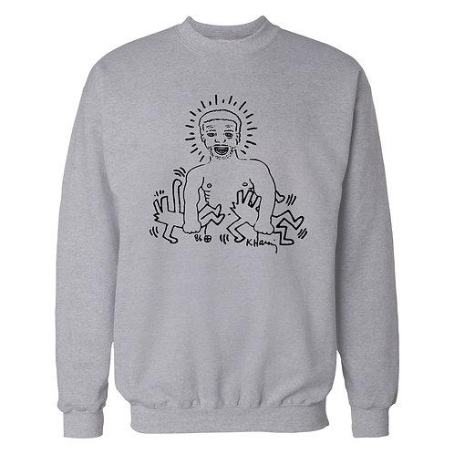 Keith Haring design Larry Levan Crew Sweatshirt