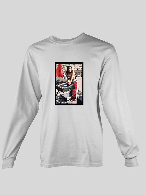 Aaliyah DJ (tommy hilfiger gear) long Sleeve T-Shirt