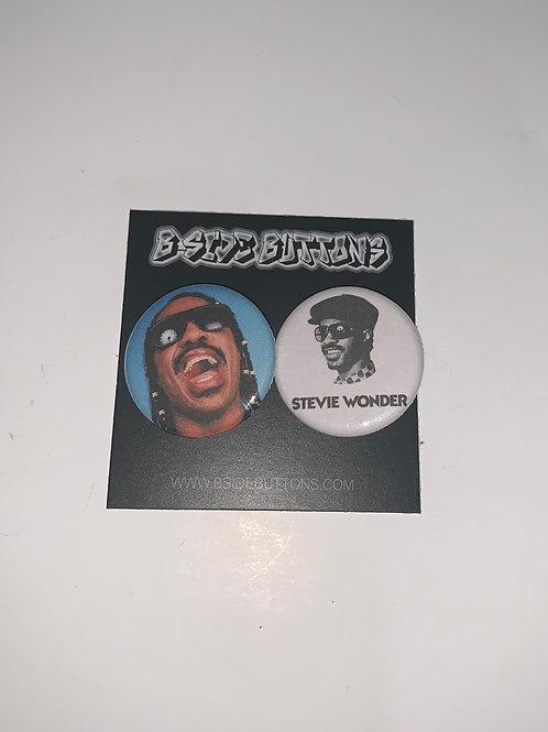 "Stevie Wonder Button Pack - Size: 1.25"""