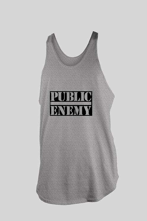 Public Enemy text logo Tank top