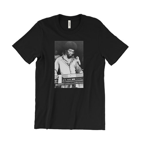 Herbie Hancock using a Moog T-Shirt