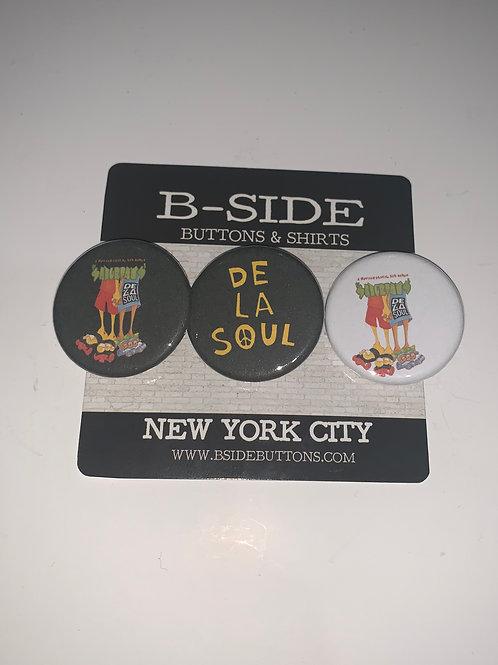 """De La Soul Button Pack - Size: 1.25"""" (v.2)"""