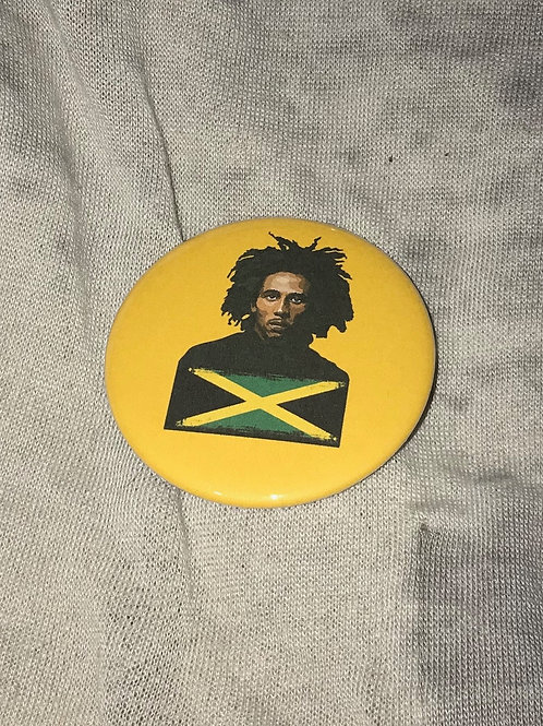"Bob Marley 2.25"" Big Button"