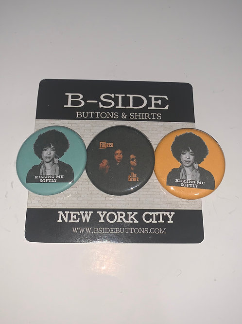 """Lauryn Hill x The Fugees Button Pack - Size: 1.25"""""""