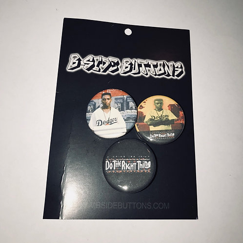 """Spike Lee's Do The Right Thing, the film Button Pack - Size: 1.25"""""""