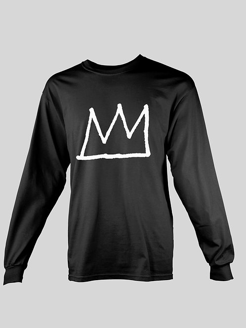 Basquiat Crown logo long Sleeve T-Shirt