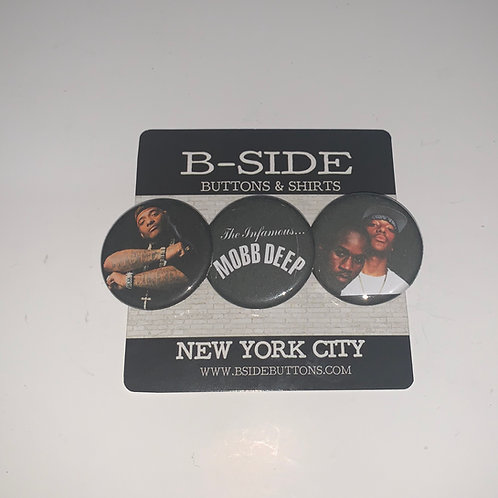 Mobb Deep Button Pack - Size: 1.25""