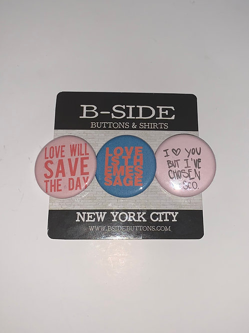 """Disco quotes button Pack - Size: 1.25"""""""