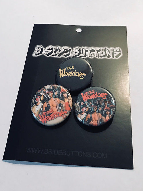 """Warriors - the film Button Pack - Size: 1.25"""""""