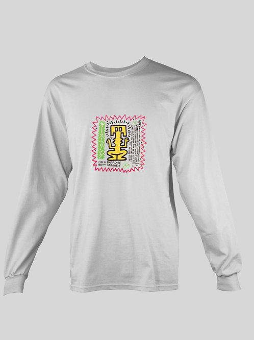 Keith Haring design of Paradise Garage flyer long Sleeve T-Shirt