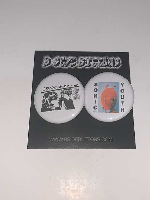 """Sonic Youth Button Pack - Size: 1.25"""""""