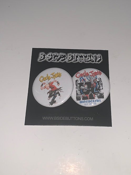 """Circle Jerks Button Pack - Size: 1.25"""""""