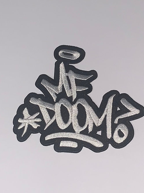 MF Doom Black and White Tag Patch