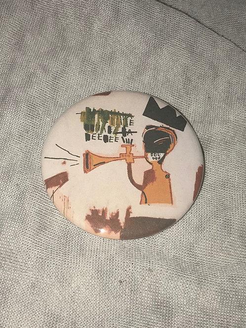 "Basquiat 2.25"" Big Pinback Button"