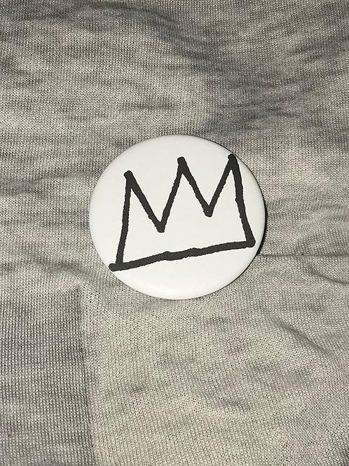 """Basquiat Crown 2.25"""" Big Button"""