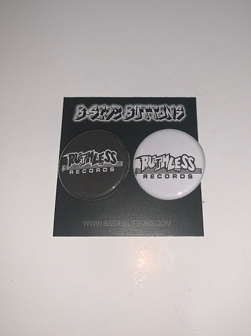 """Ruthless Records Button Pack - Size: 1.25"""""""