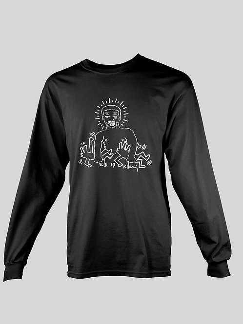 Keith Haring x Larry Levan birthday flyer long Sleeve T-Shirt