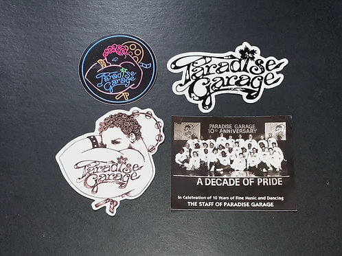 Paradise Garage Stickers