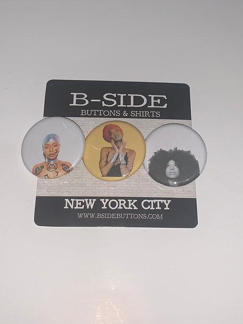 """Erykah Badu Button Pack - Size: 1.25"""" (v.2)"""