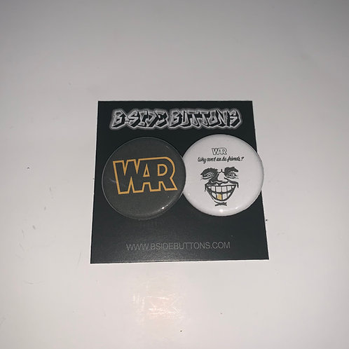 """War Why Can't We Be Friends? Button Pack - Size: 1.25"""""""