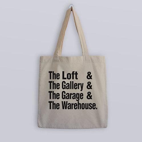 The Loft & Gallery & Paradise Garage & Warehouse Tote Bag
