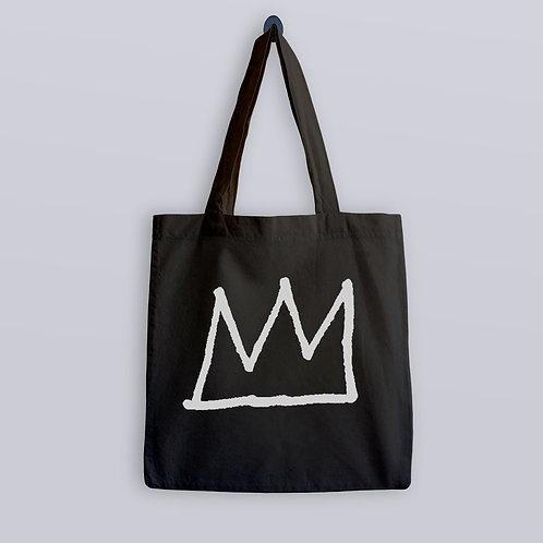 Jean Michel Basquiat Crown design Tote Bag
