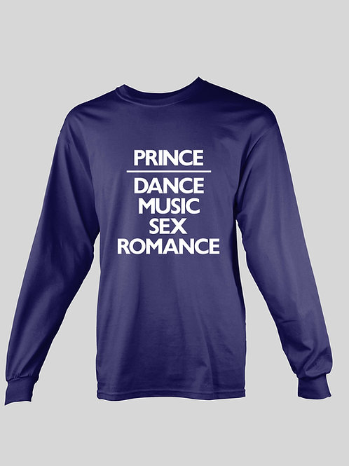 Prince Dance Music Sex Romance long Sleeve T-Shirt