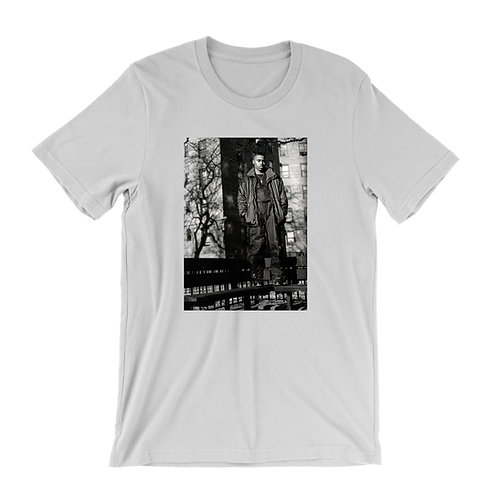 Nas on a park bench T-Shirt