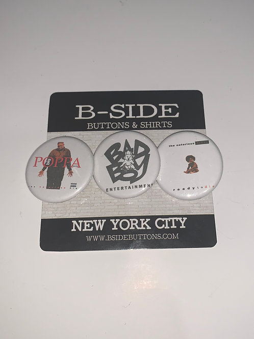 """Notorious B.I.G. Button Pack - Size: 1.25"""""""