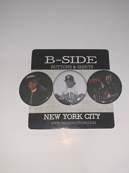 """Eazy-E Button Pack - Size: 1.25"""""""