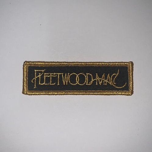 Fleetwood Mac Black and Gold logo Patch