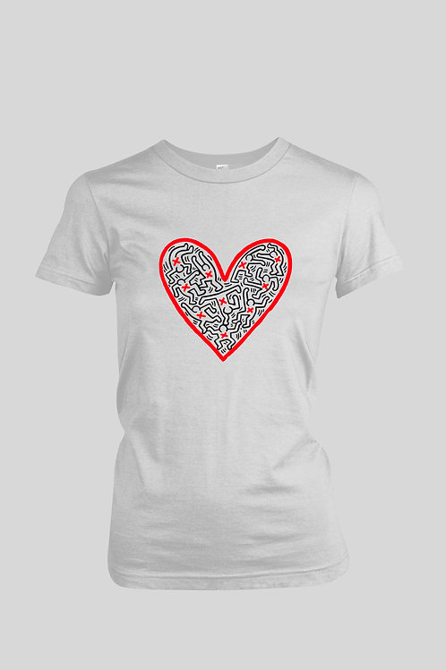 Keith Haring Valentine's Day Women's T-Shirt