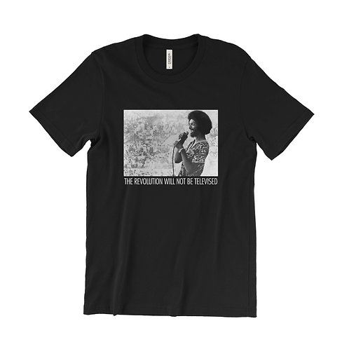 Gil Scott-Heron The Revolution Will Not Be Televised t-shirt