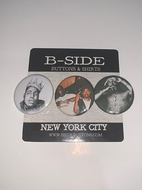 """Notorious BIG and Tupac Button Pack - Size: 1.25"""""""