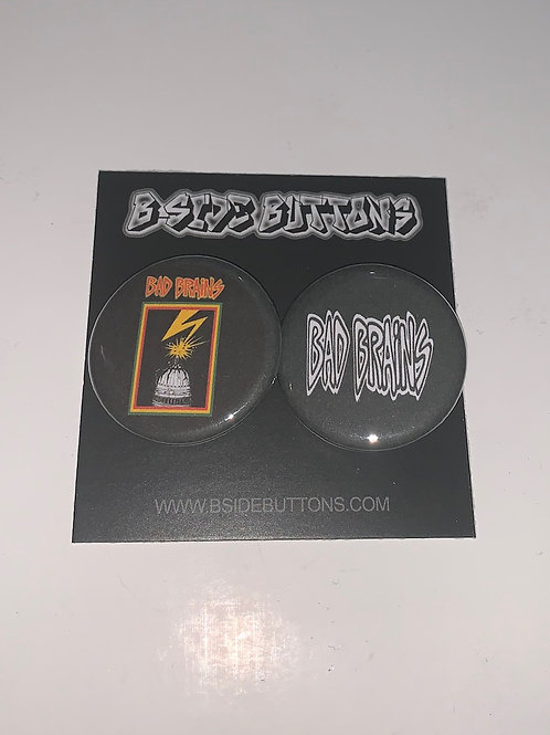 """Bad Brains Button Pack - Size: 1.25"""""""