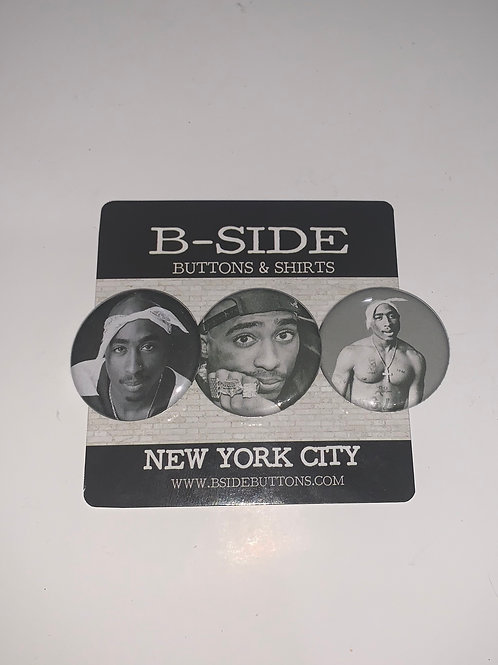 """Tupac Button Pack - Size: 1.25"""""""