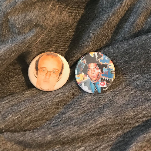 """Keith Haring and Jean-Michel Basquiat 1.25"""" Magnets"""
