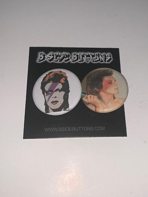 "David Bowie Button Pack - Size: 1.25"""