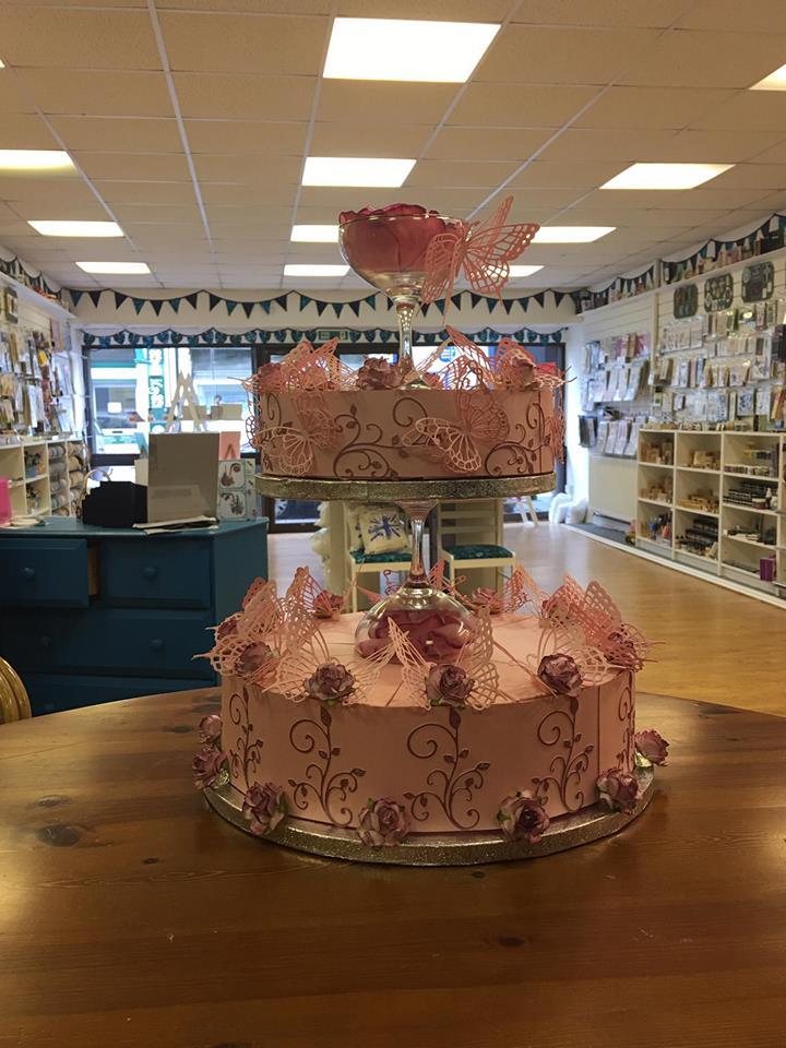 Card wedding Cake