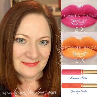 Summer Treat Orange Soda Layered LipSense Look by Lynne's True Colours