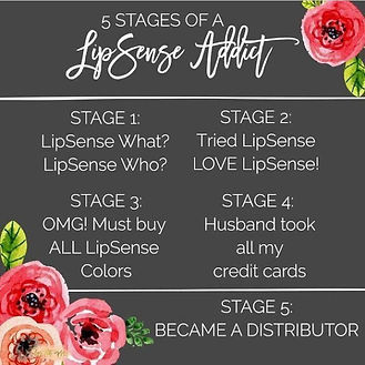 The 5 Stages of LipSense Addiction
