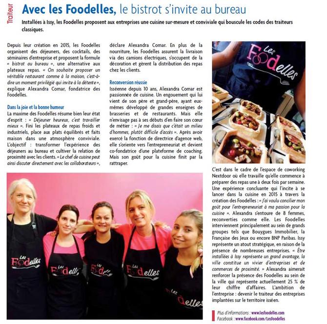 Les Foodelles dans le journal d'Issy les Moulineaux