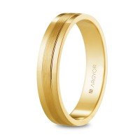 Alianza de oro brillo/satinado 4mm